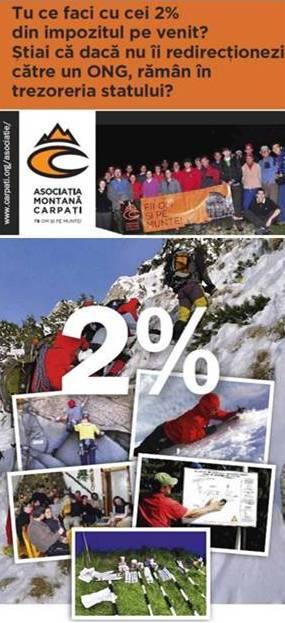 2% pentru munte (Asociatia Montana Carpati)