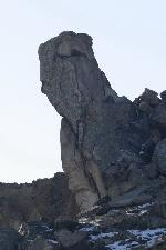 Sfinx la baza Vrajului - Culmea Pricopanului Lucrare de om-natura
