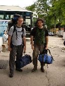 Bucuresti - Istambul - Bishkek - lacul Issyk Kul 1609m- Karakol - lacul Ala Kul - vf. Djigit 5170m - Asta e poza de la plecarea in marea calatorie - Cristi Serban si Bogdan Bacescu