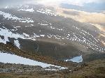 Lacul Godeanu vazut din creasta