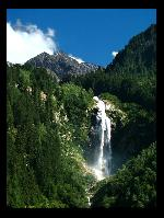 Huge waterfall in the Alpes