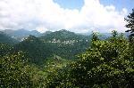 Varful Arjana (1511m), muntii Cernei, vazut de la intrarea in cheile Tasnei.
