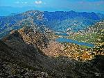 Lacurile Bucura si Ana vazute de pe Peleaga