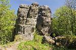 Castelul medieval Skaly (BroumovskĂĄ vrchovina Muntii Broumov - Sudeti) in Cehia