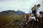 Refugiul de pe varful Negoiul Unguresc in 28. 08. 1984.