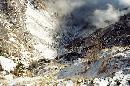 Valea Jepilor vazuta de la crucea din spatele Cabanei Caraiman, 28.11.2004