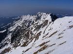 Creasta sudicĂŁ vĂŁzutĂŁ de pe Piscul Baciului (2238 m)