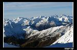 Alpii vazuti de pe langa Studl Hute in drum spre Gross glockner