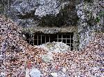 Pestera lui Zamolxis (pestera Polovragi) - intrare amonte in galeria rezervatie speologica.