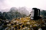 M. Prokletije (Muntenegru / Albania) - Pe Vf. Maja Bals / Balino Brdo (Muntenegru, 2460 m.), vedere spre Maja Jezerces (Albania)