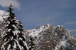 Peretele Claii si Vf. Claia Mare, vedere de pe Drumul Schiel