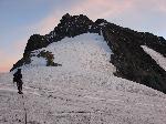 Dimineata pe Platoul Stanley, vedere spre Vf. Alexandra (5091 m.)