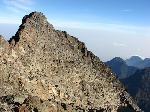 Vf. Albert (5087 m., R. D. Congo), vedere de pe Vf. Margherita (5109 m., granita Uganda - R. D. Congo)