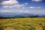 Parcul national Narat si Cozia in fundal Foto de pe Vf Folea