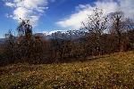 Masivul Buila, vazut din catunul parasit, Gurguiata
