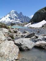 Cabana veche de la Lacul Alb, muntii Alpi