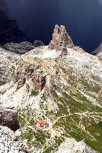 de pe traseul de via ferrata din apropiere de Tre Cime, Dolomiti
