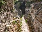 Tunel pentru scurgerea apei la baile romane Germisara(Geoagiu - Bai)