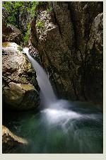 O frumoasa cĂŁdere de apa ĂŽn Buila